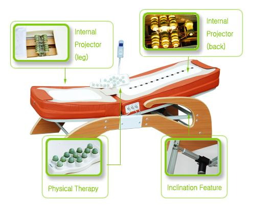 therapy jade massage bed